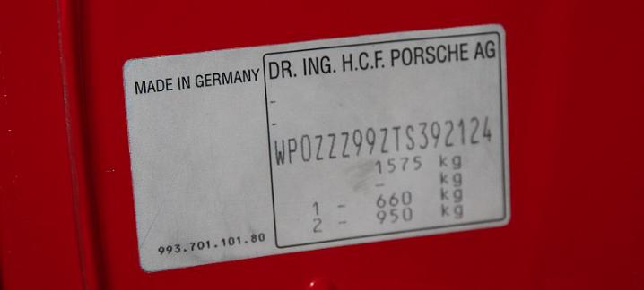 VIN number Wikimedia Commons https://commons.wikimedia.org/wiki/File:1996_Porsche_911_993_GT2_-_Flickr_-_The_Car_Spy_(3).jpg