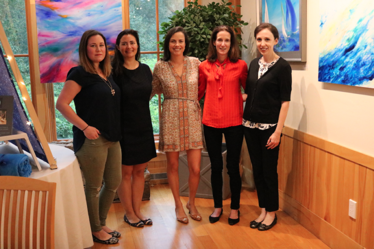 Fireside fundraiser organizers at Darien Nature Center 2018