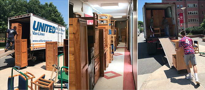 Moving furniture to Guatemala from Sacred Heart