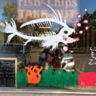 Halloween window painting contest 2018 two