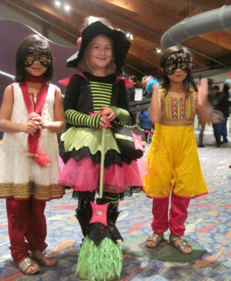 Stepping Stones Monster Mash kids in costume