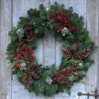 Christmas wreath holiday wreath