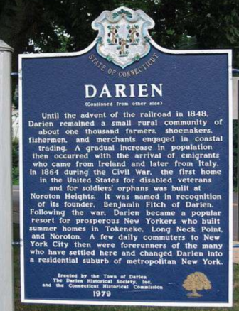 Darien historical plaque part one