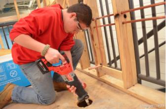 JM Wright student construction work