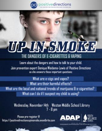 Vaping poster 11-14-18 Weston