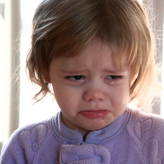 Toddler girl crying photo by Crimfants on Wikimedia Commons https://commons.wikimedia.org/wiki/File:Crying-girl.jpg