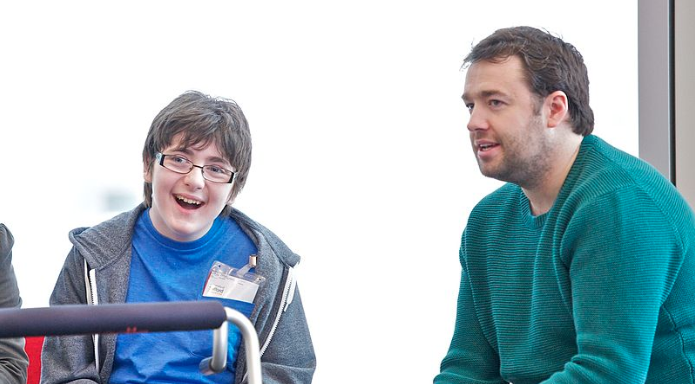 Comedy workshop for performing arts students, held by Jason Manford at the University of Salford, MediaCity. Accompanied by Jack Carroll, a 14-year-old comedian who has got through the first round of Britain's Got Talent https://commons.wikimedia.org/wiki/File:Jack_Carroll_and_Jason_Manford.jpg