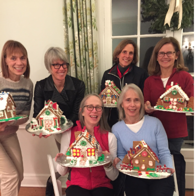 Gingerbread house decorating Darien Community Association 2018