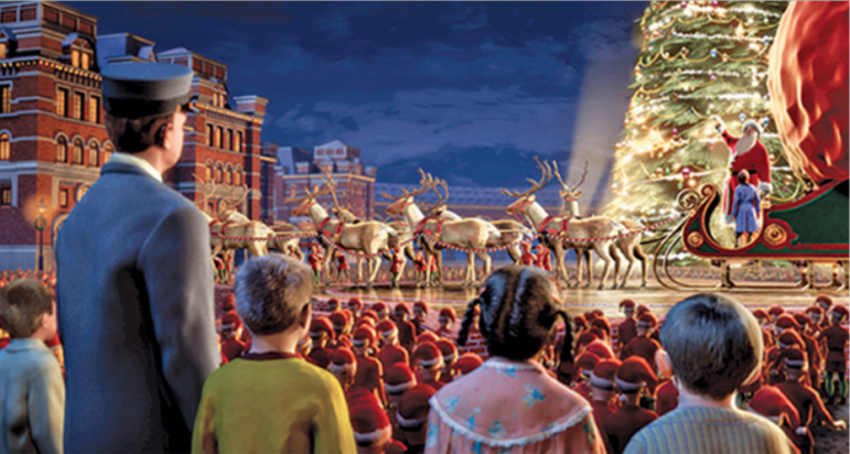 Polar Express movie still Maritime Aquarium