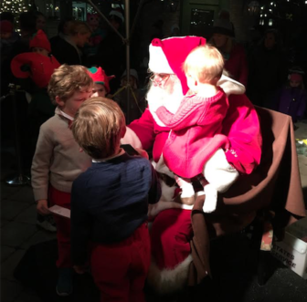 Santa Comes to Grove Street Plaza at 'Holiday Magic' Event 2018