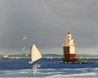 Lighthouse painting by Peter Saverine