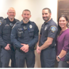 Darien Police beards earrings Leukemia Society 2018