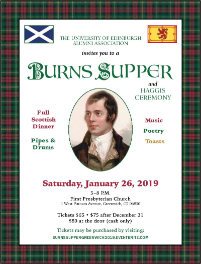 Burns Supper poster from eventbrite