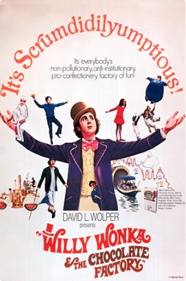 Movie poster Willie Wonka and the Chocolate Factory