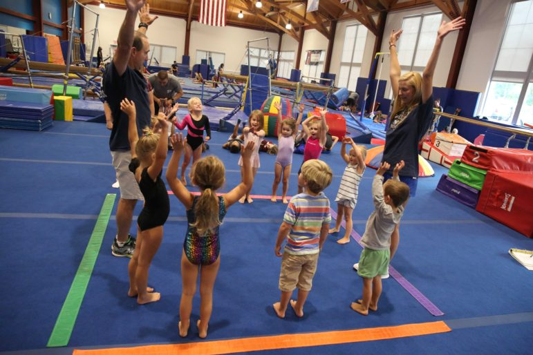 Darien YMCA fitness class for kids