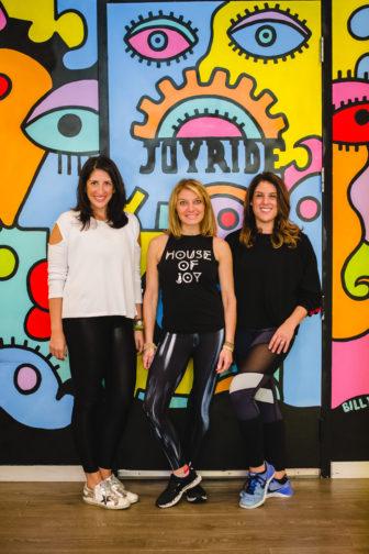 Becky Cerroni Rhodie Lorenz Amy Hochauser JoyRide Cycling + Fitness Studios