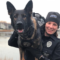 Darien Police Officer Amanda Hinkley and the K-9 she handles, Argo, a German shepard