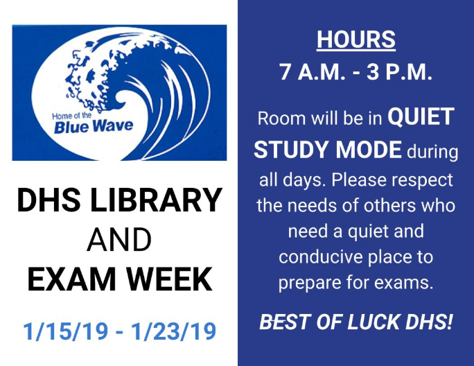 DHS Library midterm exams 2019