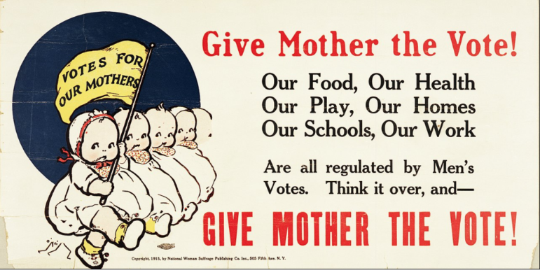 Political Poster Women's Suffrage 1915 https://commons.wikimedia.org/wiki/File:%22Give_Mother_the_Vote!%22.jpg