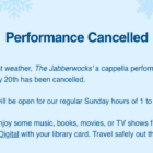 Jabberwock concert canceled at Darien Library