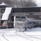 Winter Train Railroad Metro-North Snow Tracks
