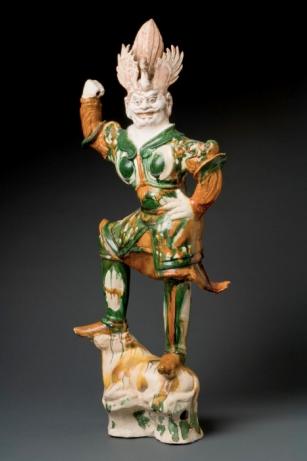 Lokapala Chinese glazed pottery Tang Dynasty