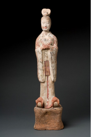 Courtier painted Chinese terra cotta