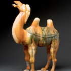 Caravan Camel Tang Dynasty Chinese Glazed Pottery