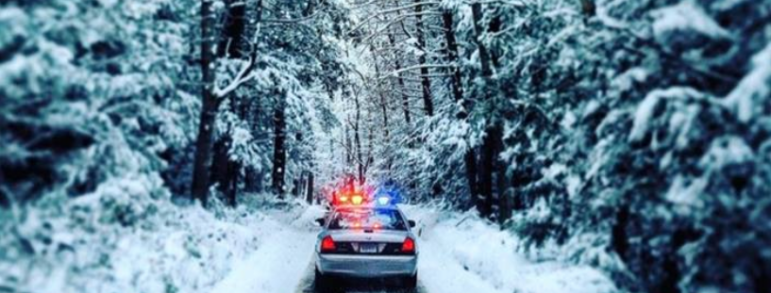 Connecticut State Police snowy winter weather
