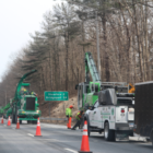 Tree removal work Interstate 95 Greenwich