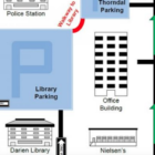 Part of a library map for parking This is for Facebook