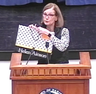 Susan Cator Public Hearing Plastic Bag Checkout Bag Ordinance Chamber of Commerce