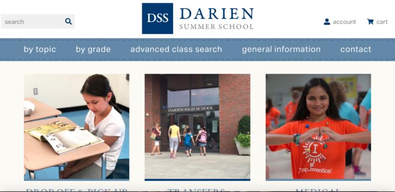 Darien Summer School website home page image