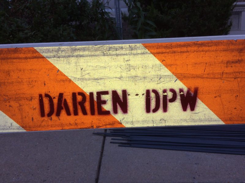 Darien DPW saw horse Department of Public Works Department