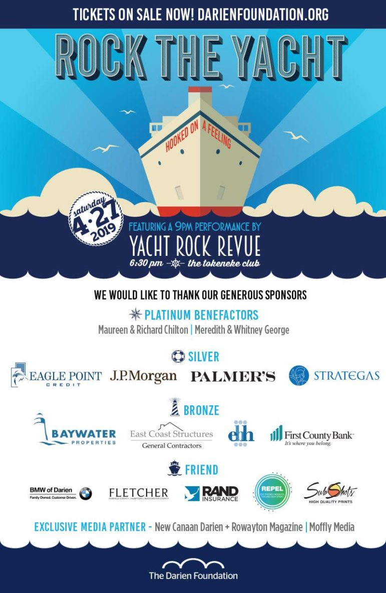 Rock the Yacht Darien Foundation poster 2019