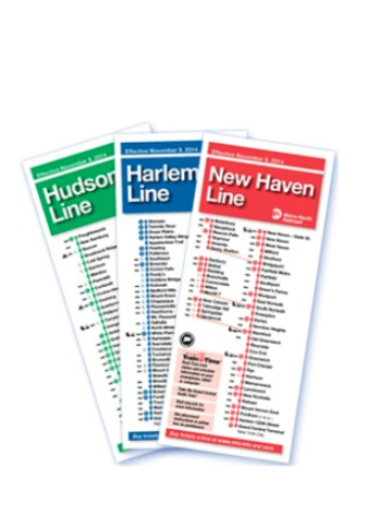 Timetables Schedules Metro-North New Haven Line