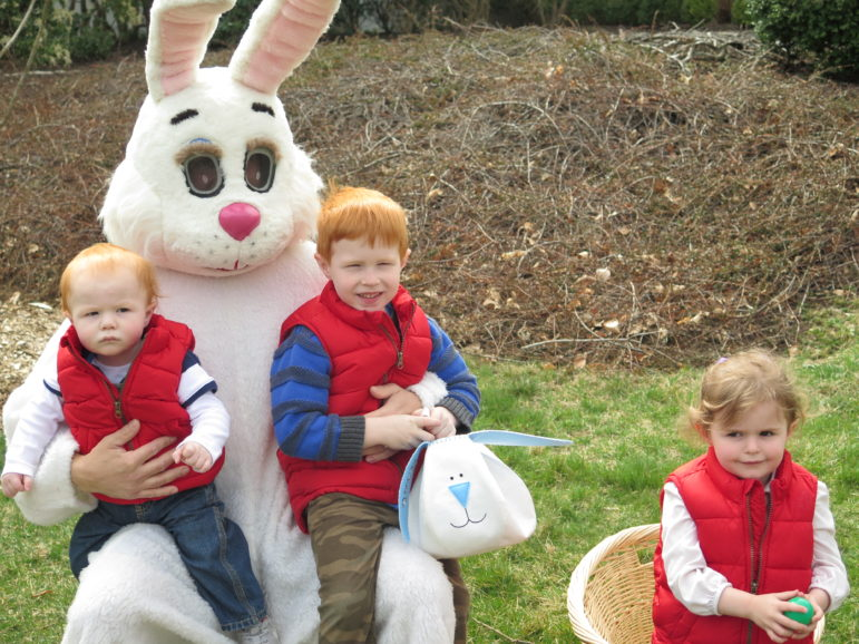 DCA Easter Egg Hunt bunny three kids