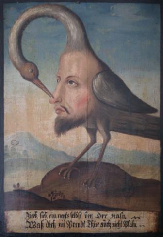 Vogel Selbsterkenntnis at the at the Tiroler Volkskunstmuseum.
