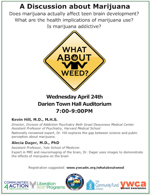 What About Weed event poster