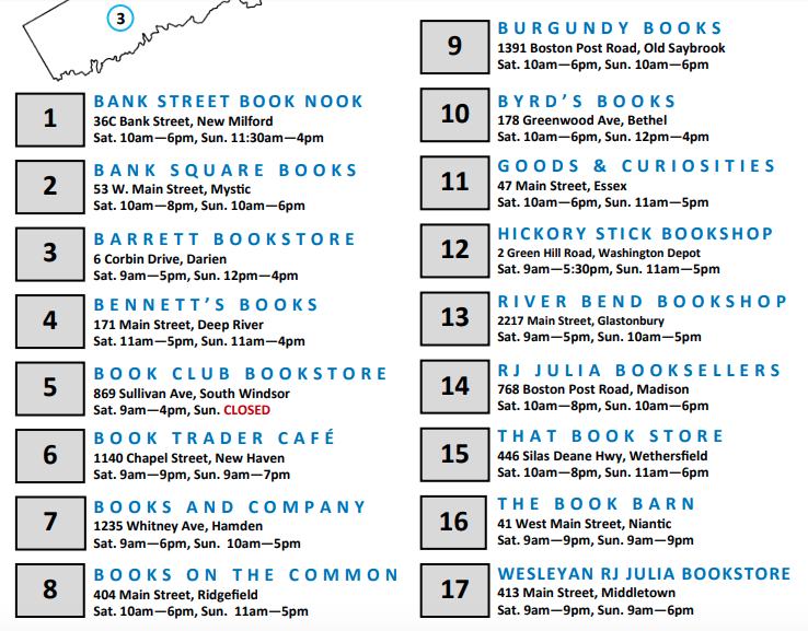List of booksellers participating Independent Bookstore Day