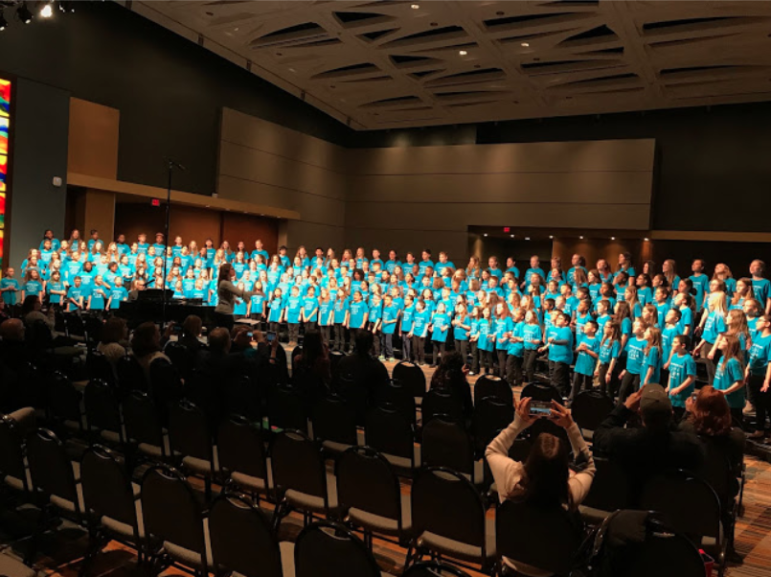 Rehearsal elementary honors chorus all-state 2019