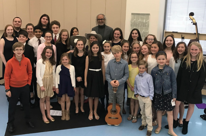 Darryl Tookes and young Darien composers