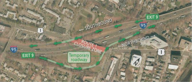 Map I-95 Exit 9 2019 project