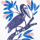 Stacey Schneider Pelican on a Flowering Branch Rowayton Arts Center