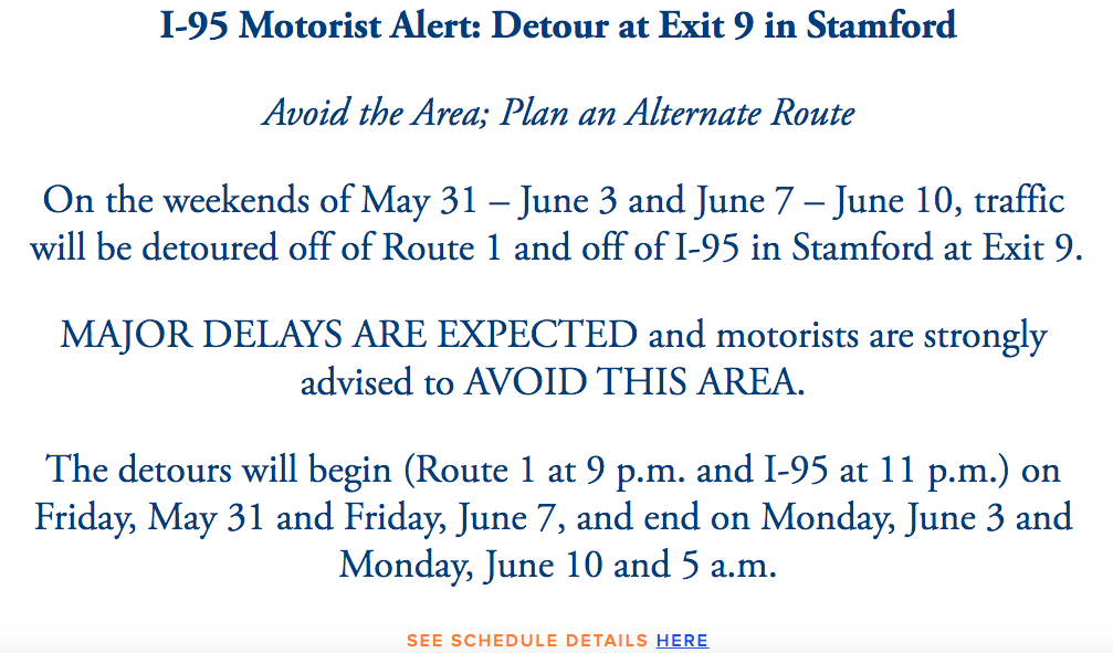 ConnDOT Exit 9 project web page