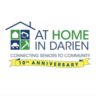 At Home In Darien 10th Anniversary Logo