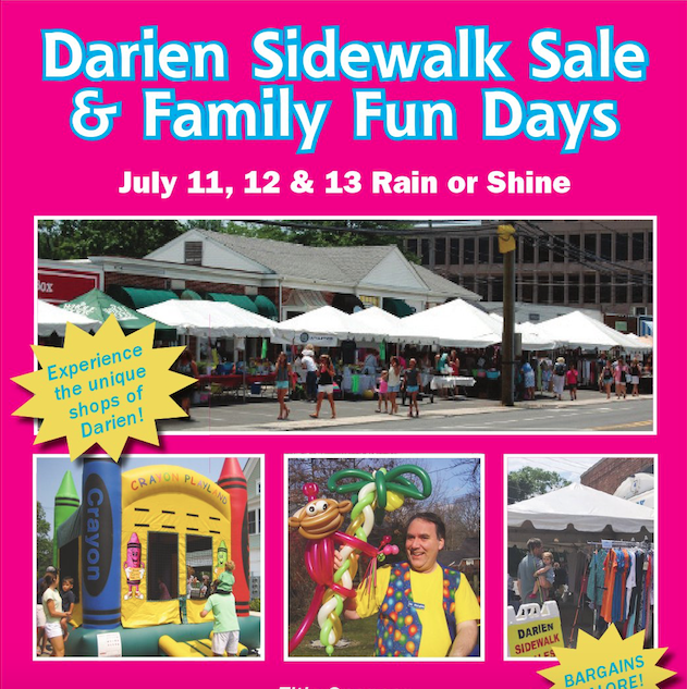 Top of page pic Darien Sidewalk Sales 2019