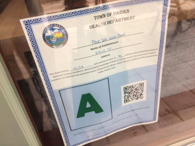 Health Inspection Certificate