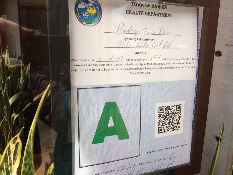 Health Rating Bodega Taco Bar