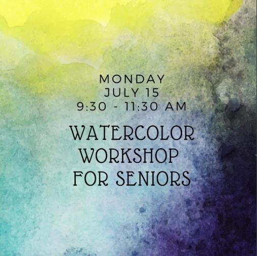 Watercolor Workshop for Seniors 2019 Bruce Museum